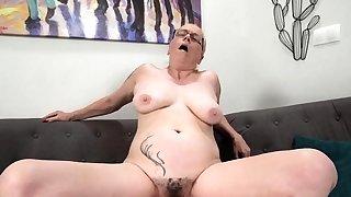 Granny with big boobs..