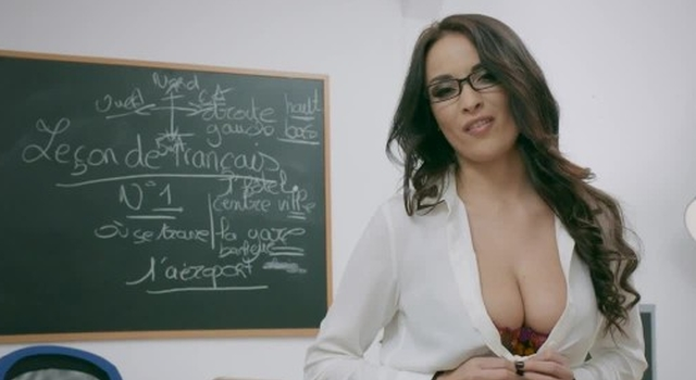 Naughty French teacher..