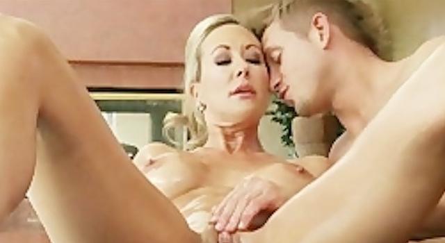 Sexy blond MILF Brandi..